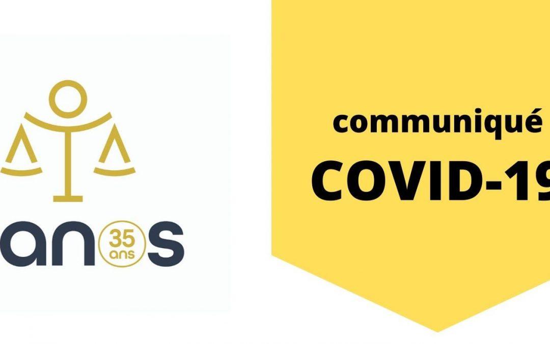 Communiqué du CANOS suite aux mesures COVID-19